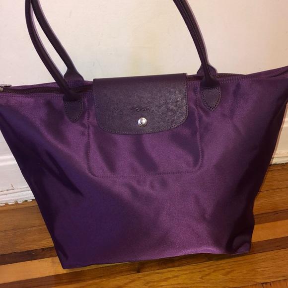 Longchamp Handbags - Longchamp Le Pliage neo large nylon tote purple a6c9a5fa5d3c5